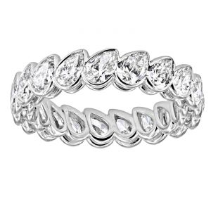 TWO by London Slanted Pear Diamond Eternity Band