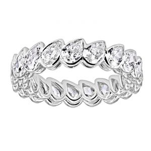 TWO by London Leaning Pear Diamond Eternity Band
