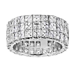 TWO by London Three Row Asscher Diamond Eternity Band