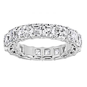 TWO by London Shared Prong Asscher Cut Diamond Eternity Band