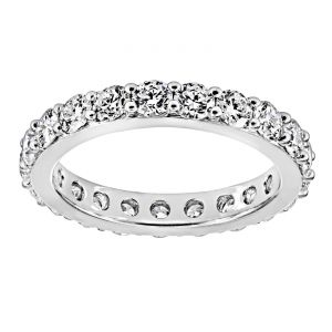 TWO by London Round Diamond Common Prong Eternity Band