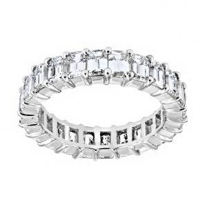 TWO by London Emerald Cut Diamond Eternity Wedding Band