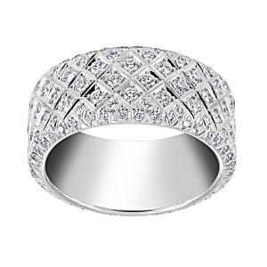 TWO by London Basket Weave Diamond Eternity Band