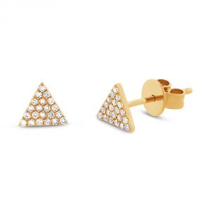 TWO by London 14k Triangle Stud Earrings