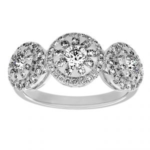 TWO by London Three Stone Diamond Bouquet Ring