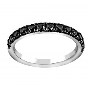 Henri Daussi Black Diamond Pave Half Band