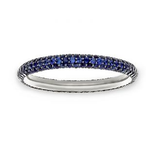 TWO by London Three Row Blue Sapphire Pave Eternity Band