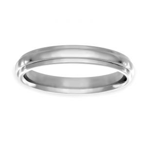 TWO by London 3mm Plain Comfort Fit Wedding Band