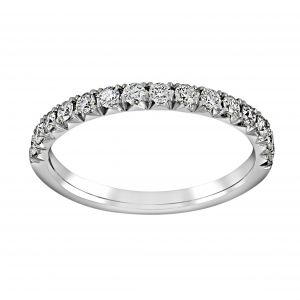 Henri Daussi Half Pave Diamond Wedding Band