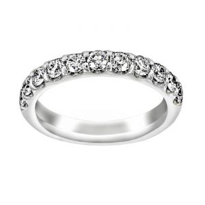 TWO by London Shared Prong Round Diamond Wedding Band