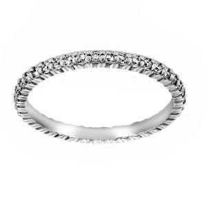 TWO by London Petite Prong Round Diamond Eternity Wedding Band