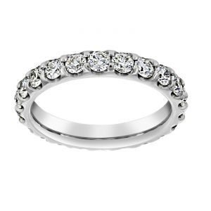TWO by London Round Diamond Eternity Wedding Band