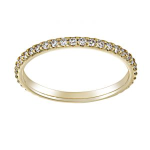 TWO by London Shared Prong Diamond Eternity Wedding Band