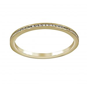 Henri Daussi Channel Thin Diamond Half Band