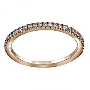 Henri Daussi Light Pink Pave Diamond Half Band