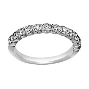 Henri Daussi Prong Set Diamond Half Band