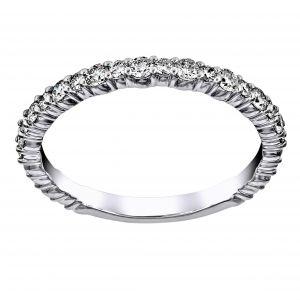 TWO by London Alternating Size Diamond Wedding Band
