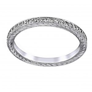 Single Stone Molly Pave Diamond Eternity Band