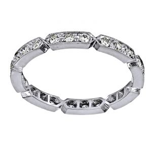 Single Stone Carly Diamond Eternity Band
