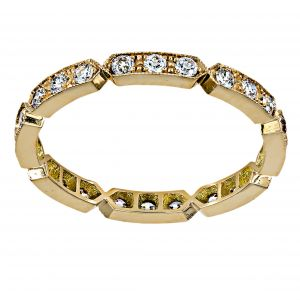 Single Stone Carly Hexagonal Diamond Eternity Band