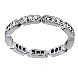 Single Stone Olivia French Cut Diamond Eternity Band