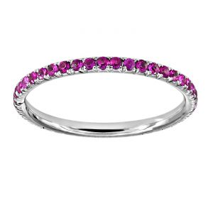 TWO by London Micropave Pink Sapphire Eternity Band