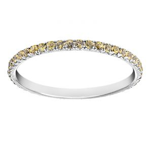 TWO by London Micropave Yellow Sapphire Eternity Band