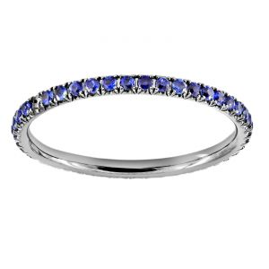 TWO by London Micropave Blue Sapphire Eternity Band