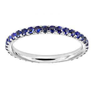 TWO by London Micropave Round Sapphire Eternity Band