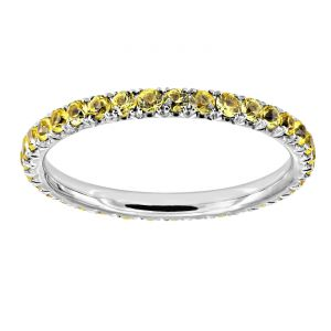 TWO by London Four Prong Yellow Sapphire Eternity Band