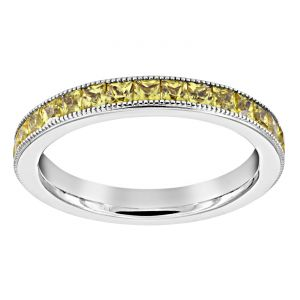 TWO by London Channel Set Yellow Sapphire Eternity Band