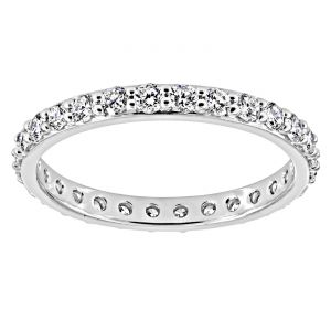 TWO by London Shared Prong  Eternity Band