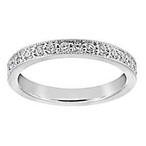 TWO by London Milgrain Edge Diamond Eternity Band