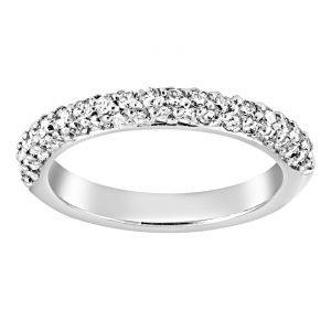 TWO by London Three Row Prong Set Diamond Wedding Band