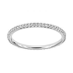 TWO by London Four Prong Pave Diamond Eternity Band