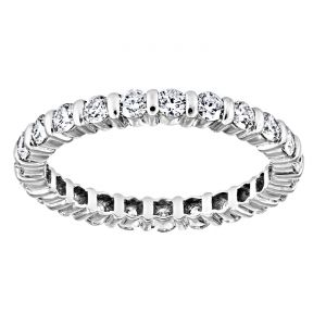 TWO by London Bar Set Round Diamond Eternity Band