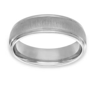 TWO by London Polished And Satin Wedding Band