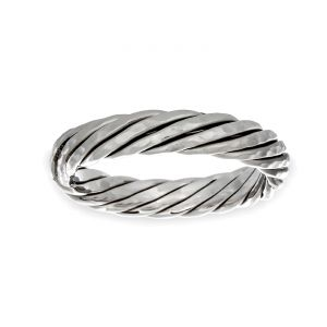TWO by London 4mm Cable Wedding Band