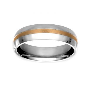 TWO by London 6mm Two Tone Wedding Band