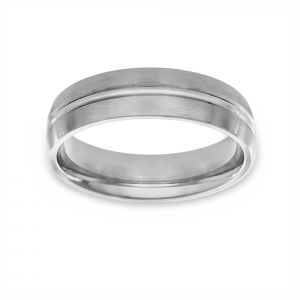 Benchmark Satin Finish Wedding Band