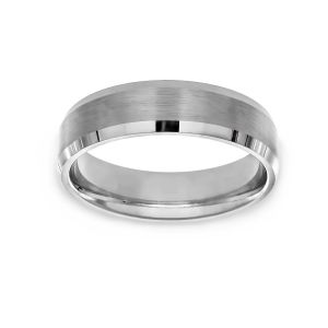 Benchmark Beveled Edge Wedding Band
