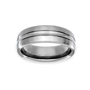 Benchmark 7.5mm Comfort Fit Carved Design Wedding Band