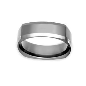 Benchmark 7mm Four Sided Beveled Wedding Band