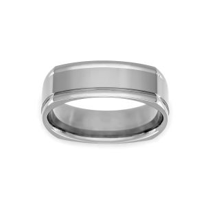 Benchmark 7mm Four Sided Polished Edge Wedding Band