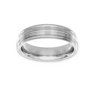 Benchmark Polished Edge Wedding Band