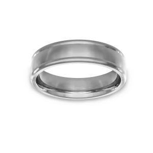 Benchmark High Polish Wedding Band