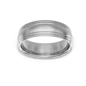Benchmark Double Edged Wedding Band