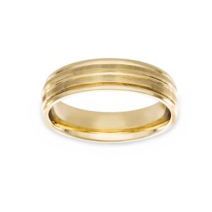 Benchmark Satin And Polished Finish Wedding Band