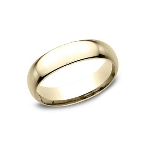 Benchmark 18k Yellow Gold Standard Comfort-Fit 6mm Wedding Ring