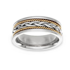 TWO by London Two Tone Hand Woven Comfort Band